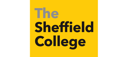 The Sheffield College text logo copy